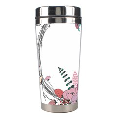 Flowers Twig Corolla Wreath Lease Stainless Steel Travel Tumblers