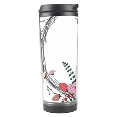 Flowers Twig Corolla Wreath Lease Travel Tumbler