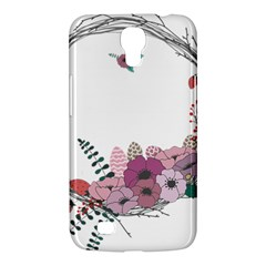Flowers Twig Corolla Wreath Lease Samsung Galaxy Mega 6 3  I9200 Hardshell Case