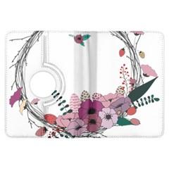 Flowers Twig Corolla Wreath Lease Kindle Fire Hdx Flip 360 Case