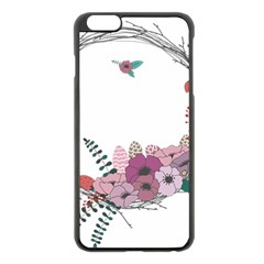 Flowers Twig Corolla Wreath Lease Apple Iphone 6 Plus/6s Plus Black Enamel Case