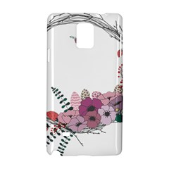 Flowers Twig Corolla Wreath Lease Samsung Galaxy Note 4 Hardshell Case