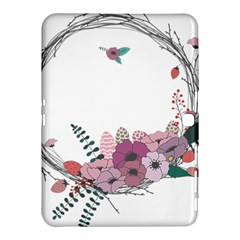 Flowers Twig Corolla Wreath Lease Samsung Galaxy Tab 4 (10.1 ) Hardshell Case