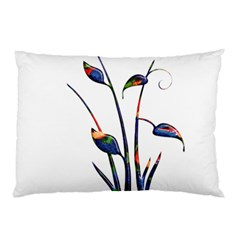 Flora Abstract Scrolls Batik Design Pillow Case