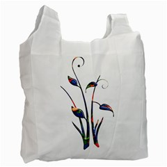 Flora Abstract Scrolls Batik Design Recycle Bag (one Side)