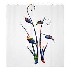 Flora Abstract Scrolls Batik Design Shower Curtain 66  x 72  (Large)