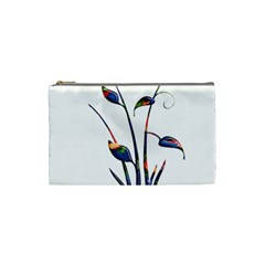 Flora Abstract Scrolls Batik Design Cosmetic Bag (Small)