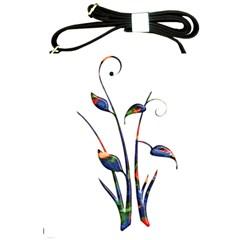 Flora Abstract Scrolls Batik Design Shoulder Sling Bags