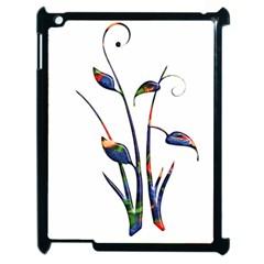 Flora Abstract Scrolls Batik Design Apple iPad 2 Case (Black)