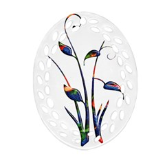 Flora Abstract Scrolls Batik Design Ornament (oval Filigree)