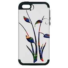 Flora Abstract Scrolls Batik Design Apple iPhone 5 Hardshell Case (PC+Silicone)