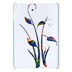 Flora Abstract Scrolls Batik Design Apple iPad Mini Hardshell Case