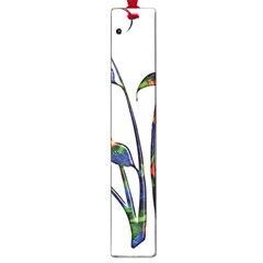 Flora Abstract Scrolls Batik Design Large Book Marks