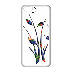Flora Abstract Scrolls Batik Design Apple Iphone 5c Seamless Case (white)