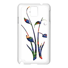 Flora Abstract Scrolls Batik Design Samsung Galaxy Note 3 N9005 Case (white)