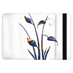 Flora Abstract Scrolls Batik Design Ipad Air Flip