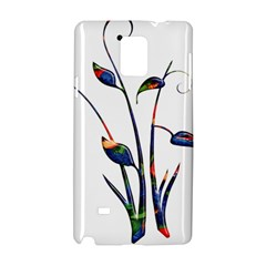 Flora Abstract Scrolls Batik Design Samsung Galaxy Note 4 Hardshell Case