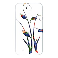 Flora Abstract Scrolls Batik Design Samsung Galaxy Mega I9200 Hardshell Back Case