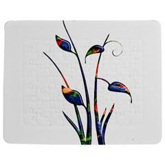 Flora Abstract Scrolls Batik Design Jigsaw Puzzle Photo Stand (rectangular)