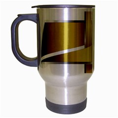 Logo Cross Golden Metal Glossy Travel Mug (silver Gray)