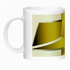 Logo Cross Golden Metal Glossy Night Luminous Mugs