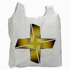 Logo Cross Golden Metal Glossy Recycle Bag (Two Side)