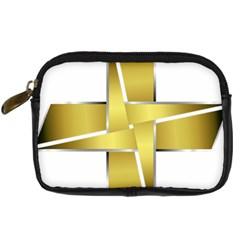 Logo Cross Golden Metal Glossy Digital Camera Cases