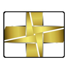 Logo Cross Golden Metal Glossy Fleece Blanket (small)