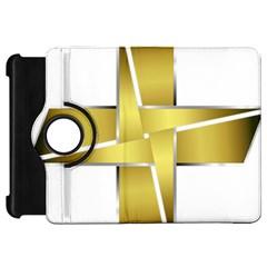 Logo Cross Golden Metal Glossy Kindle Fire Hd 7
