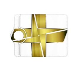 Logo Cross Golden Metal Glossy Kindle Fire Hd (2013) Flip 360 Case