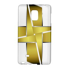 Logo Cross Golden Metal Glossy Galaxy Note Edge