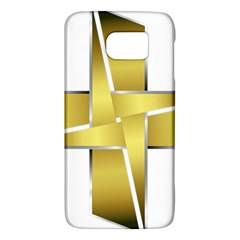 Logo Cross Golden Metal Glossy Galaxy S6