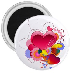 Heart Red Love Valentine S Day 3  Magnets