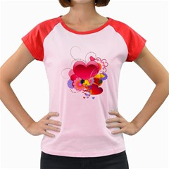 Heart Red Love Valentine S Day Women s Cap Sleeve T-Shirt