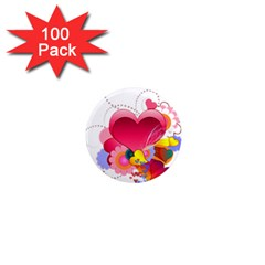 Heart Red Love Valentine S Day 1  Mini Magnets (100 Pack)