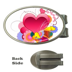 Heart Red Love Valentine S Day Money Clips (Oval)