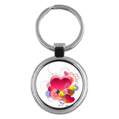 Heart Red Love Valentine S Day Key Chains (Round)