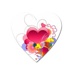 Heart Red Love Valentine S Day Heart Magnet
