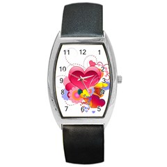 Heart Red Love Valentine S Day Barrel Style Metal Watch