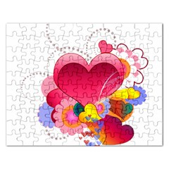 Heart Red Love Valentine S Day Rectangular Jigsaw Puzzl