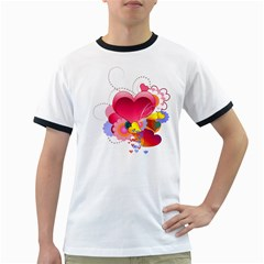 Heart Red Love Valentine S Day Ringer T Shirts