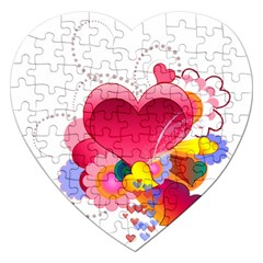 Heart Red Love Valentine S Day Jigsaw Puzzle (heart)