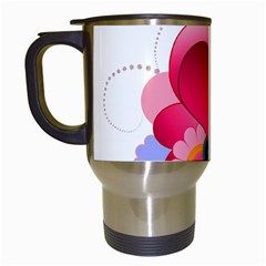 Heart Red Love Valentine S Day Travel Mugs (white)