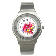 Heart Red Love Valentine S Day Stainless Steel Watch