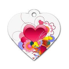 Heart Red Love Valentine S Day Dog Tag Heart (two Sides)
