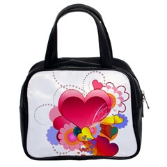 Heart Red Love Valentine S Day Classic Handbags (2 Sides)