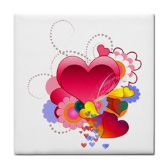 Heart Red Love Valentine S Day Face Towel