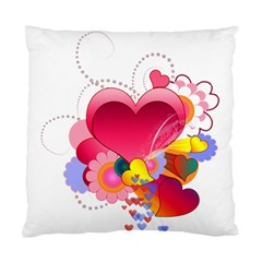 Heart Red Love Valentine S Day Standard Cushion Case (One Side)