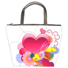 Heart Red Love Valentine S Day Bucket Bags