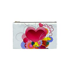 Heart Red Love Valentine S Day Cosmetic Bag (small)